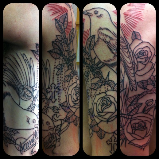 Traditional magpie tattoo - photo#43